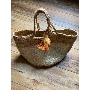SHIRALEAH Gold and Orange Tote Bag